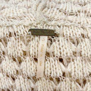 Free People Sweaters - RARE Free People Crochet Hooded Fringe Cardigan